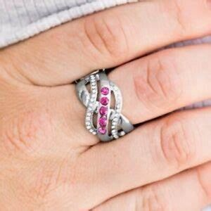 4/$20 Flirting With Sparkle - Pink Ring- Paparazzi